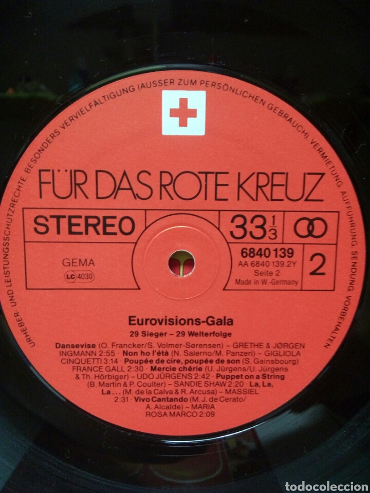 Discos de vinilo: Eurovision Gala - 1956 - 1981 Winners 2xLP GER Gatefold - Foto 7 - 139144204