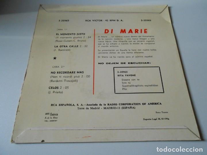 Discos de vinilo: DI MARIE, EP, IL MOMENTO GIUSTO (EL MOMENTO JUSTO) + 3, AÑO 1966 - Foto 2 - 139146746