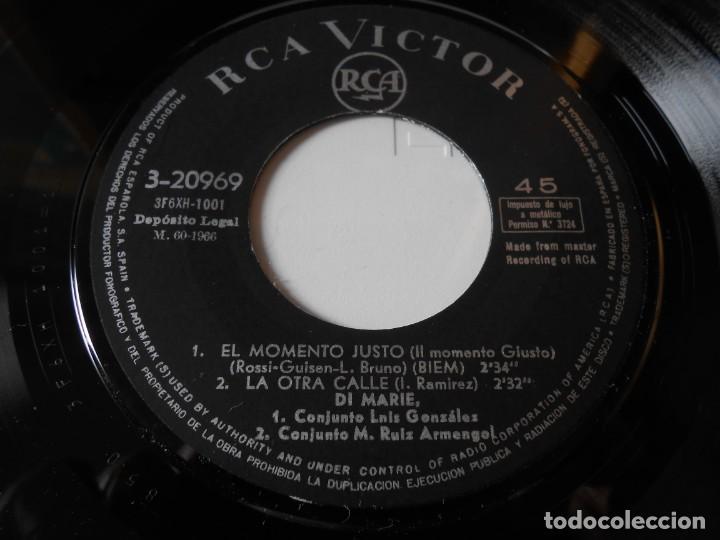 Discos de vinilo: DI MARIE, EP, IL MOMENTO GIUSTO (EL MOMENTO JUSTO) + 3, AÑO 1966 - Foto 3 - 139146746