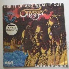 Discos de vinilo: ODYSSEY - USE IT AND WEAR IT OUT ( ÚSALO Y TÍRALO ) DISCO DE VINILO 45 RPM - GRUPO MÚSICA AÑOS 70 80. Lote 139166434