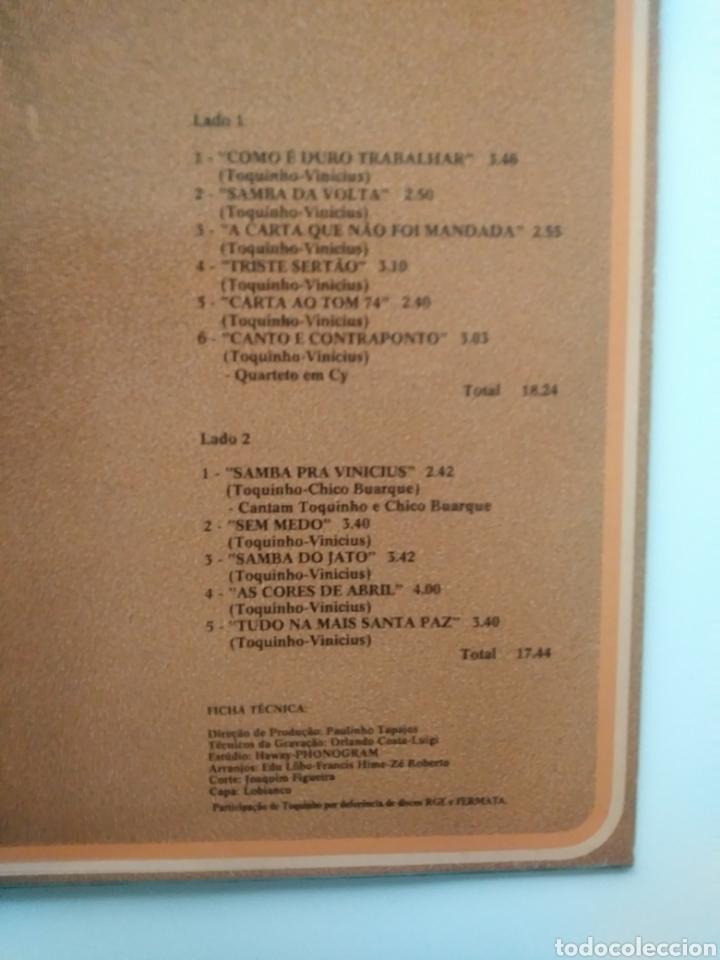 Discos de vinilo: Vinicius & Toquinho.Lp.Philips.1974. - Foto 3 - 139171877