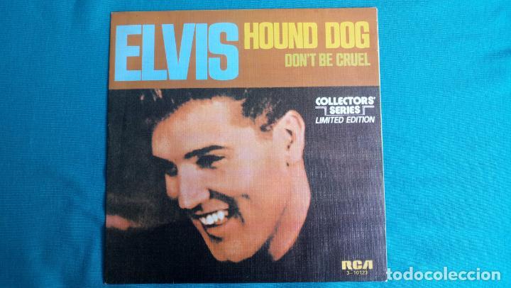 ELVIS PRESLEY - HOUND DOG / DON'T BE CRUEL - SINGLE - EDITADO EN ESPAÑA 1984.LIMITED EDITION (Música - Discos de Vinilo - Maxi Singles - Rock & Roll)