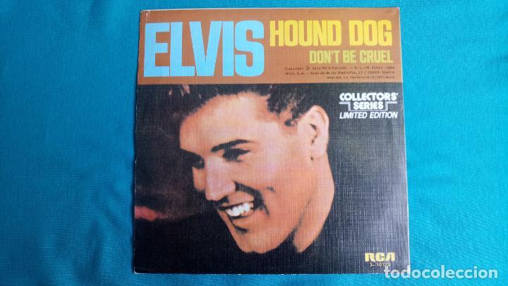 Discos de vinilo: ELVIS PRESLEY - HOUND DOG / DON'T BE CRUEL - SINGLE - EDITADO EN ESPAÑA 1984.LIMITED EDITION - Foto 2 - 139176210