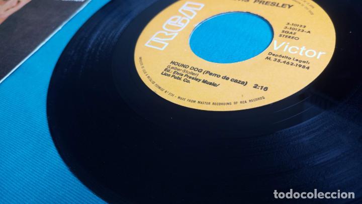 Discos de vinilo: ELVIS PRESLEY - HOUND DOG / DON'T BE CRUEL - SINGLE - EDITADO EN ESPAÑA 1984.LIMITED EDITION - Foto 8 - 139176210