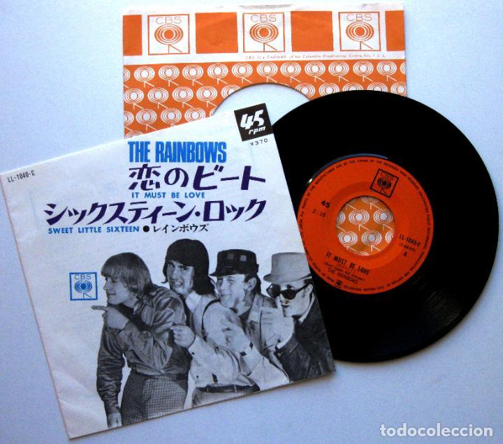 THE RAINBOWS - IT MUST BE LOVE - SINGLE CBS 1967 JAPAN (EDICIÓN JAPONESA) BEAT BPY (Música - Discos - Singles Vinilo - Pop - Rock Internacional de los 50 y 60)