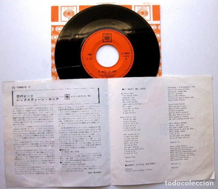 Discos de vinilo: The Rainbows - It Must Be Love - Single CBS 1967 Japan (Edición Japonesa) Beat BPY - Foto 3 - 139195478