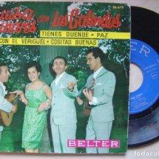 Discos de vinilo: LUISA LINARES CON LOS GALINDOS - TIENES DUENDE - EP 1961 - BELTER. Lote 139203218