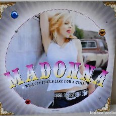 Discos de vinilo: MADONNA - WHAT IT FEELS LIKE FOR A GIRL MAXI W B - 2001. Lote 139221654