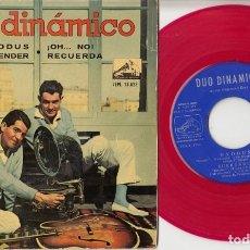 Discos de vinilo: DUO DINAMICO - EXODUS - EP DE VINILO - VINILO ROJO. Lote 139230302