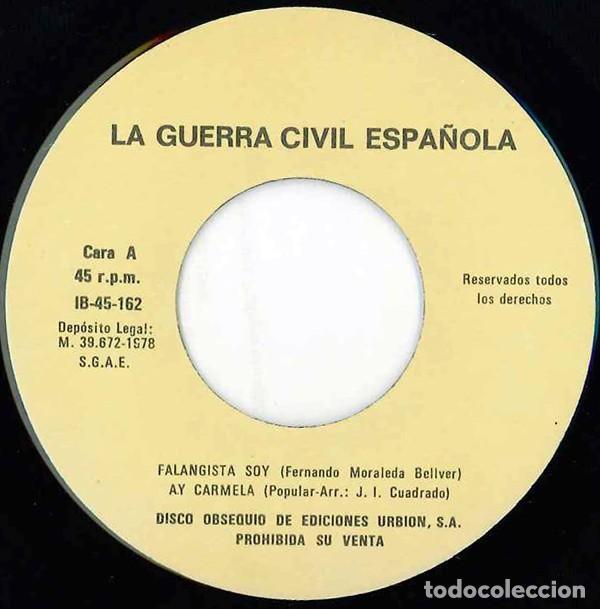 Discos de vinilo: Canciones De La Guerra Civil Española (España, 1978) - Foto 3 - 139233982