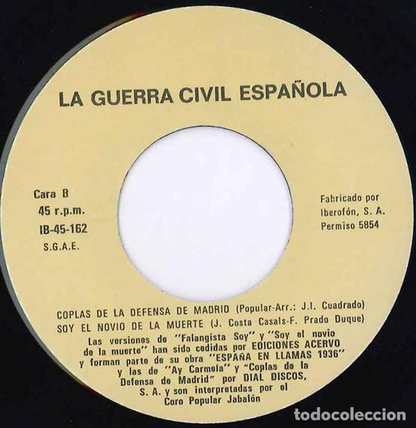 Discos de vinilo: Canciones De La Guerra Civil Española (España, 1978) - Foto 4 - 139233982