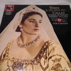 Discos de vinilo: VERDI IL TROVATORE, CALLAS, 2 LPS. Lote 139245522