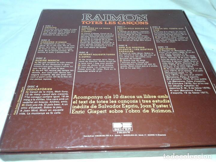 Discos de vinilo: RAIMON, TOTES LES CANÇONS 10 LPS - Foto 3 - 139245642