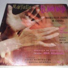 Discos de vinilo: MANUEL DE FALLA, EL AMOR BRUJO 1959. Lote 139246518