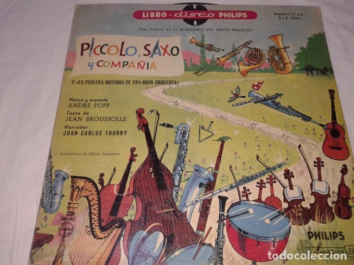 PICCOLO, SAXO Y COMPAÑIA, LIBRO DISCO PHILIPS, 1958 (Música - Discos de Vinilo - Maxi Singles - Música Infantil)