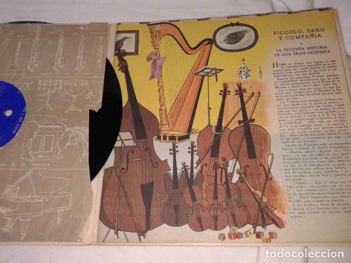 Discos de vinilo: PICCOLO, SAXO Y COMPAÑIA, LIBRO DISCO PHILIPS, 1958 - Foto 2 - 139246822