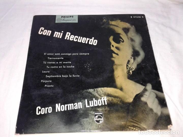 CORO NORMAN LUBOFF, CON MI RECUERDO 33 1/3 (Música - Discos de Vinilo - Maxi Singles - Otros estilos)