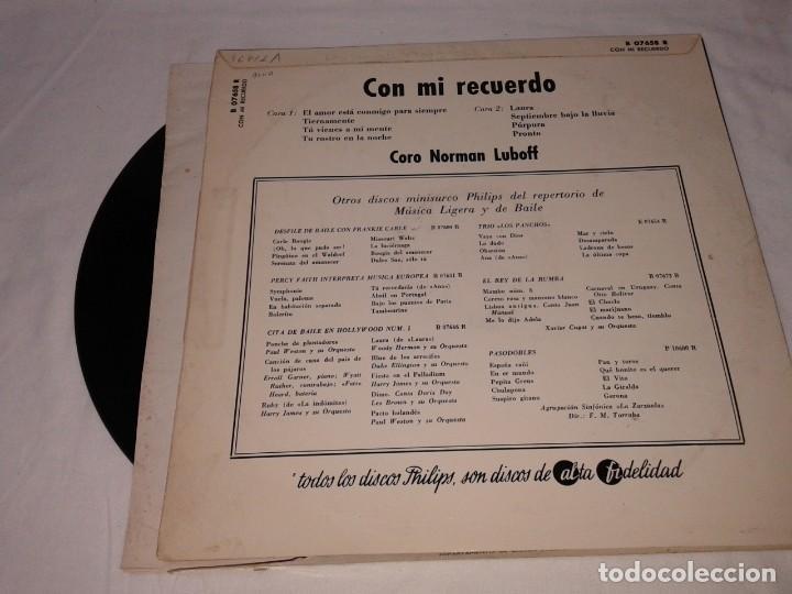 Discos de vinilo: CORO NORMAN LUBOFF, CON MI RECUERDO 33 1/3 - Foto 2 - 139246870