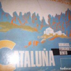 Discos de vinilo: SONORAMA REGIONAL DE ESPAÑA - CATALUÑA - 2 DISCOS DE PLASTICO - 45 RPM - Y LIBRETO EDUCATIVO. Lote 139286934
