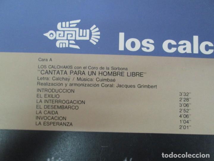 Discos de vinilo: CANTATA PARA UN HOMBRE LIBRE CON EL CORO DE LA SORBONA DE PARIS. LOS CALCHAKIS. LP VINILO - Foto 3 - 139297490