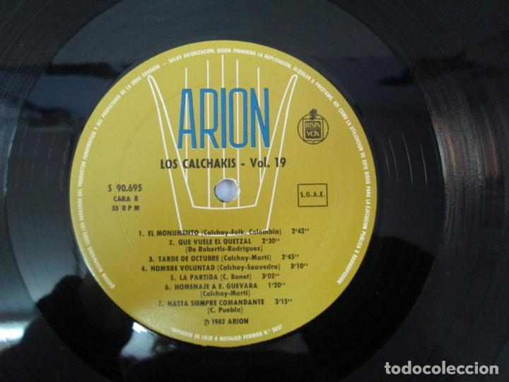 Discos de vinilo: CANTATA PARA UN HOMBRE LIBRE CON EL CORO DE LA SORBONA DE PARIS. LOS CALCHAKIS. LP VINILO - Foto 6 - 139297490