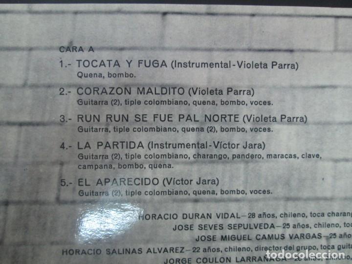 Discos de vinilo: VIVA CHILE! LA NUEVA CANCION CHILENA. INTI-ILLIMANI. 2 LP VIILO. VER FOTOGRAFIAS ADJUNTAS - Foto 5 - 139298266