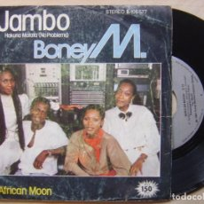 Discos de vinilo: BONEY M - JAMBO + AFRICA MOON - SINGLE 1981 - ARIOLA. Lote 139313254