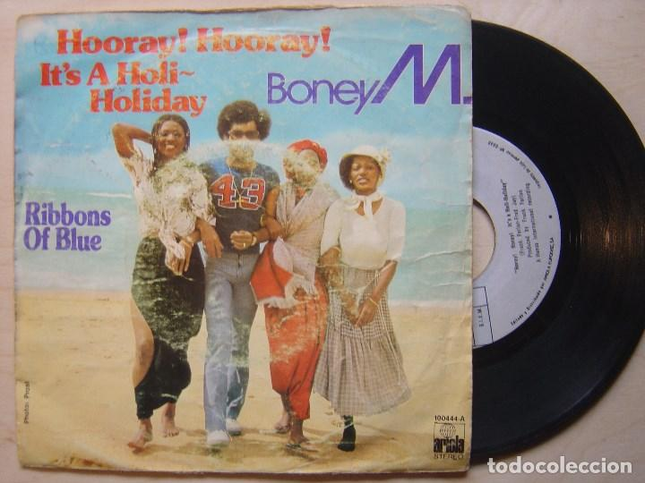 BONEY M HOORAY + RIBBONS OF BLUE - SINGLE 1979 - ARIOLA (Música - Discos - Singles Vinilo - Funk, Soul y Black Music)