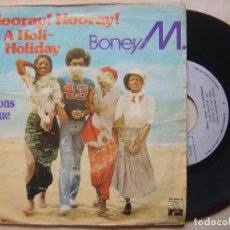 Discos de vinilo: BONEY M HOORAY + RIBBONS OF BLUE - SINGLE 1979 - ARIOLA. Lote 139314114