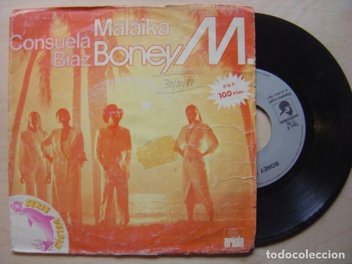BONEY M MALAIKA + CONSUELA BIAZ - SINGLE 1981 - ARIOLA (Música - Discos - Singles Vinilo - Funk, Soul y Black Music)