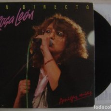 Discos de vinilo: ROSA LEÓN - AMIGAS MIAS (EN DIRECTO) - LP DOBLE 1986 - FONOMUSIC. Lote 139322010
