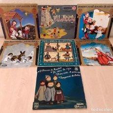 Discos de vinilo: SIETE PRECIOSOS DISCOS VINILO SINGLE CON VILLANCICOS NAVIDEÑOS INFANTILES TRADICIONALES. Lote 139345066