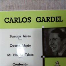 Discos de vinilo: CARLOS GARDEL BUENOD AIRES 45 RPM. Lote 139353421