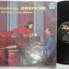 Discos de vinilo: LP ARMANDO OREFICHE SU PIANO Y SU RITMO MAG 3082 PANART RECORDS HIGH FIDDELITY. Lote 139356842