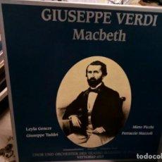 Discos de vinilo: MACBETH DE VERDI EN ESTUCHE DE CARTON. Lote 139363818