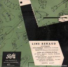 Discos de vinilo: LINE RENAUD Y SU ORQUESTA / NON BONHEUR / JE VEUX / BOLERO BALEAR / EP PATHE RF-3646. Lote 139378890