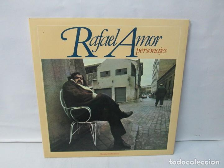 RAFAEL AMOR. PERSONAJES. LP VINILO. DISCOS MOVIEPLAY 1978. VER FOTOGRAFIAS ADJUNTAS (Música - Discos - Singles Vinilo - Cantautores Españoles)