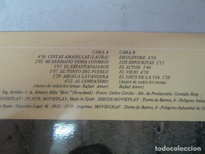 Discos de vinilo: RAFAEL AMOR. PERSONAJES. LP VINILO. DISCOS MOVIEPLAY 1978. VER FOTOGRAFIAS ADJUNTAS - Foto 3 - 139381062