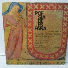 Discos de vinilo: POESIA DE ESPAÑA. LP VINILO. VOCES FERNANDO FERNAN GOMEZ. MARIA LUISA PONTE. HISPAVOX 1964. 2 DISCOS. Lote 139383362