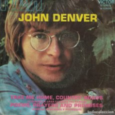 Discos de vinilo: JOHN DENVER - TAKE ME HOME, COUNTRY ROADS / POEMS, PRAYERS AND PROMISES . Lote 139395374