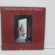 Discos de vinilo: CANCIONES DE AMOR Y DE TRABAJO. MARIA SALGADO. LP VINILO. MOVIEPLAY 1980. VER FOTOGRAFIAS ADJUNTAS. Lote 139467750
