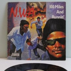 Discos de vinilo: N.W.A.,100 MILES AND RUNNING,12 PULGADAS,MAXISINGLE,4TH BROADWAY,1990.. Lote 139474702