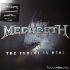Discos de vinilo: MAXI-SINGLE MEGADETH - THE THREAT IS REAL / VINILO / ED. OFICIAL 2015 / NUEVO. Lote 139476078