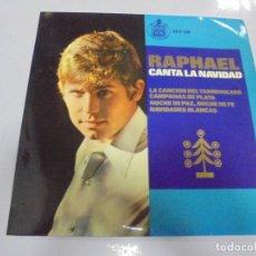 Discos de vinilo: SINGLE. RAPHAEL CANTA LA NAVIDAD. HISPAVOX. Lote 139491930
