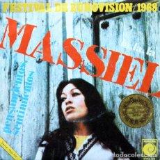 Discos de vinilo: MASSIEL – LA, LA, LA / PENSAMIENTOS, SENTIMIENTOS - SINGLE SPAIN REEDICIÓN (2000). Lote 139500002