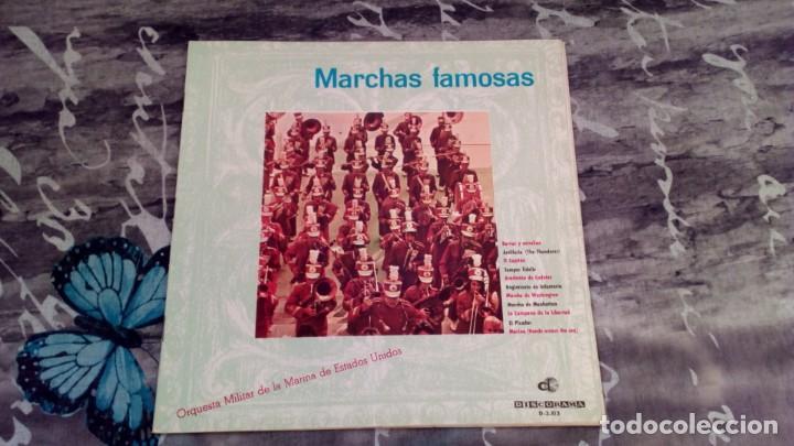 MARCHAS FAMOSAS - ORQUESTA MILITAR DE LA MARINA DE ESTADOS UNIDOS - DISCORAMA D-3513 (Música - Discos - LP Vinilo - Clásica, Ópera, Zarzuela y Marchas)