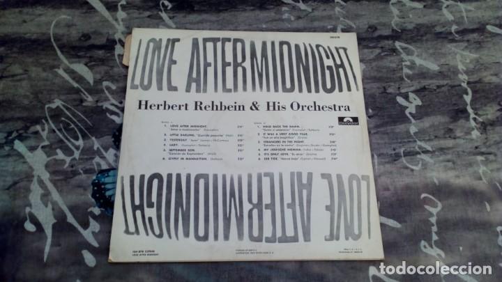 Discos de vinilo: Herbert Rehbein & His Orchestra – Love After Midnight - Polydor – 184 078 - 1967 - Foto 2 - 139529566