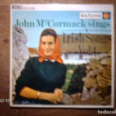 Discos de vinilo: JOHN MC CORMACK - SINGS IRISH SONG VOL 1 - MACUSHLA + WHEN IRISH EYES ARE SMILING + 2. Lote 139531234