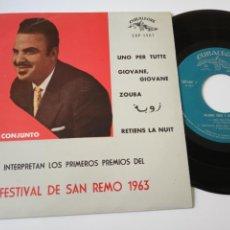 Discos de vinilo: RICARDO CREDI UNO PER TUTTE - SPAIN EP 1963- VINILO COMO NUEVO.. Lote 139534354