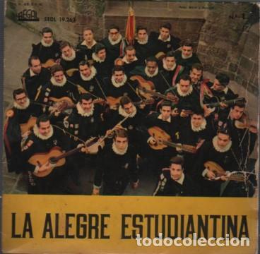 DISCO EP DE ALEGRE ESTUDIANTINA - TUNA 1960 FACULTAD DE MEDICINA DE BARCELONA - REGAL (Música - Discos de Vinilo - Maxi Singles - Grupos Españoles 50 y 60)